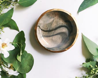 STONE & MARBLE // polymer clay ring dish, jewelry dish, trinket dish, ring holder