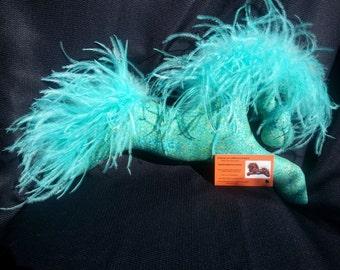 aqua and metallic gold pony horse decorative pillow mobile equestrian gift equine decor