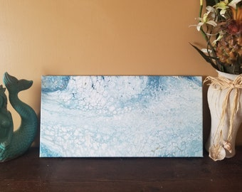 Nautical navy and white dirty pour