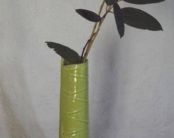 Vegetalis model No. 12 leaf embossed vase / Green