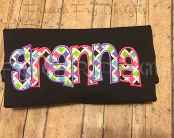 Grandmother Brag applique Short-Sleeve T-Shirt for GRANNA Customized and Personalized