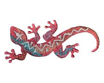 Southwest Lizard Applique Patch (Iron on)