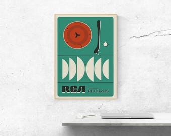 RCA Stereophonic Records - Mid Century Modern Style Advertising Poster