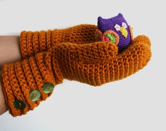 Crochet pattern, girl and women mittens pattern, wrist warmer crochet pattern, crochet glove pattern (115) INSTANT DOWNLOAD