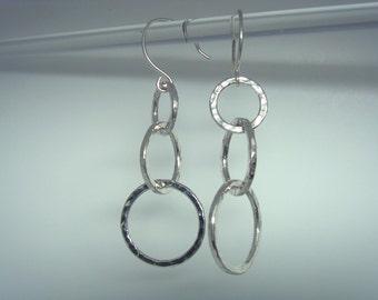 3 Tier Earrings in Fine Silver