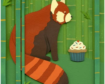 Original Art: Red Panda Party