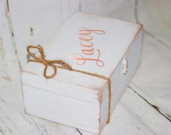 Bridesmaid Gift  Bridesmaid Proposal Bridesmaid Gift Box Will You Be My Bridesmaid Rose Gold Wedding