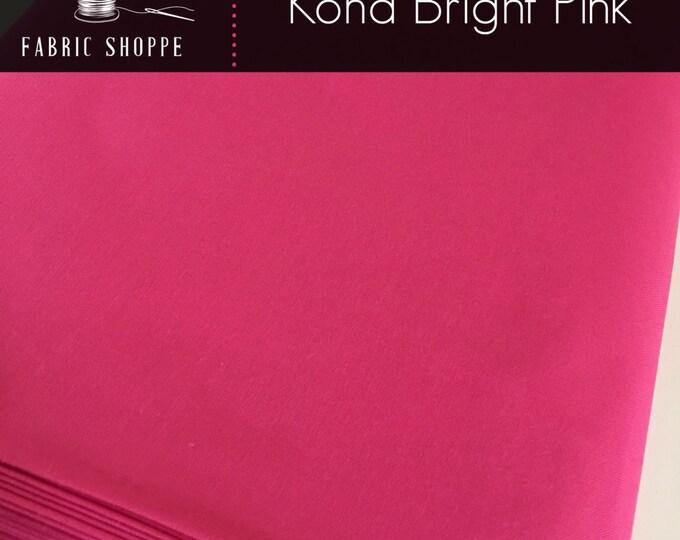 Kona cotton solid quilt fabric, Kona BRIGHT PINK 1049, Kona fabric, Solid fabric Yardage, Kaufman, Pink fabric, Choose the cut