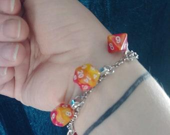 Miniature dice bracelet
