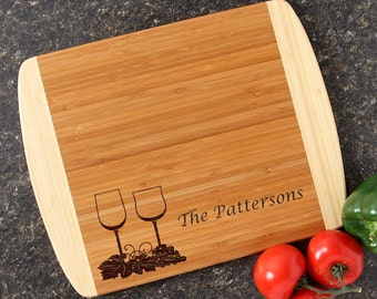 Personalized Cutting Board Personalized Wedding Gift Custom Engraved Cutting Board Bamboo Cutting Board Hostess Housewarming Gift-14 x 11 D5