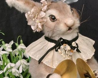 "Anthropomorphic Art Easter Bunny Rabbit ""Hanni"" Soft Sculpture Doll"