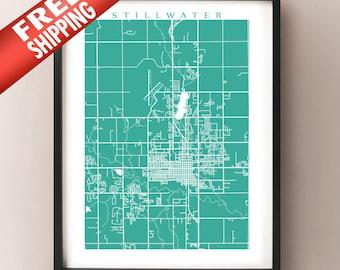 Stillwater City Map Print
