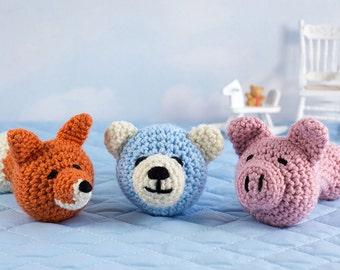 Amigurumi Rattle Free Pattern : Crochet pattern sunshine baby rattle amigurumi baby shower