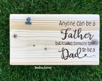 Anyone can be a father but it takes someone special to be a Dad, Step Fathers Day gift, Step dad gift, Gift for stepdad, Step dad quotes