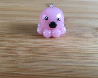 Pink Octopus Charm