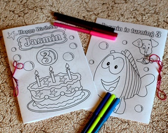 Personalized Bubble Guppies Birthday Party coloring activity book, PDF