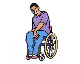Drake - Wheelchair Jimmy - Degrassi - Enamel Pin - Flair - Gift - Canada - Toronto - Champagne Papi