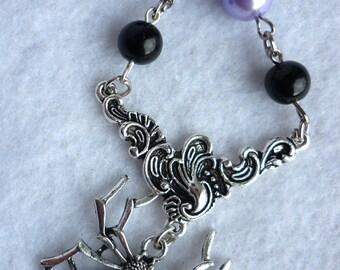 The Black Widow Necklace - Mauve Version