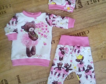 Girlset Pants Sweater Bear Ballet