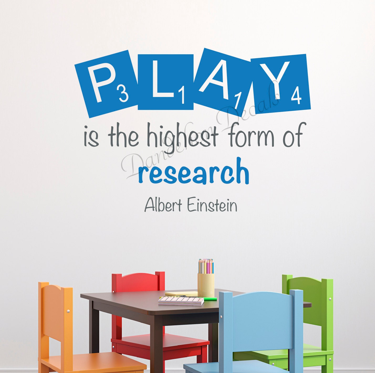 Quotes About Play Kids Playroom Decal Einstein Quotes Play Is The Highest