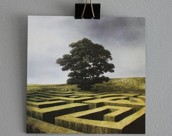 The Code - Fine Art card - Maze