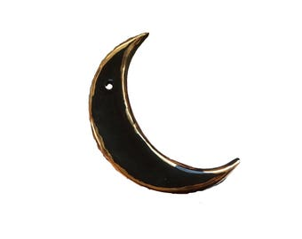 Gold Accented Crescent Moon Hanging