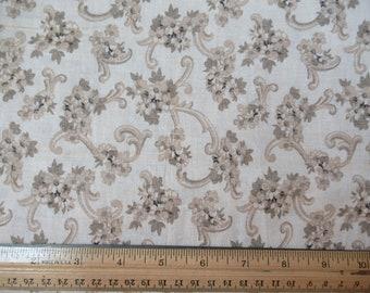 Tan Floral - Daisy Kingdom - 1 yard - N-1-12