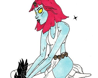 Mystique MB Original Drawing