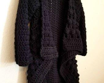 Crochet Cardigan PATTERN - Crochet Sweater Pattern - Crochet Top Pattern - Easy Crochet Pattern - Easy Crochet Sweater