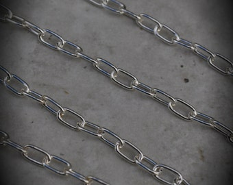 70 Inch Silver Plated Oval 7mm Chain
