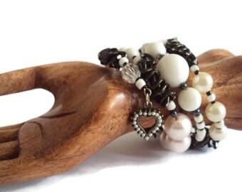 Eco Friendly Heart Charm Wrap Bracelet