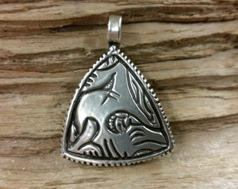 01.222.SV  -925 Silver Anglo-Saxon  Beast Pendant, 9th Century AD