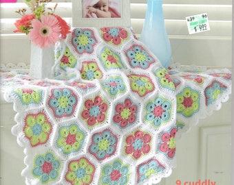 Sweet Baby Blankets ~  Crochet Book  ~  Leisure Arts / Mary Maxim  ~  9 patterns