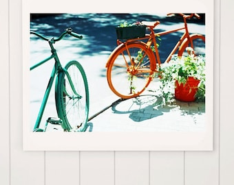 bicycle photography, fine art photography, canvas photo prints, wall art decor, vintage bicycle photography, summer photography, cycling