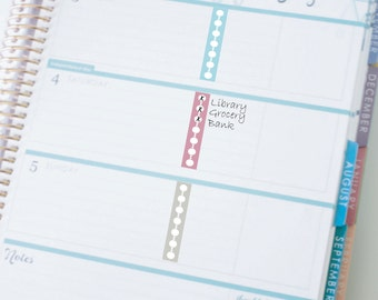 Divider Checklist Bars Sticker Printable - Instant Download - to fit your Erin Condren Horizontal Layout