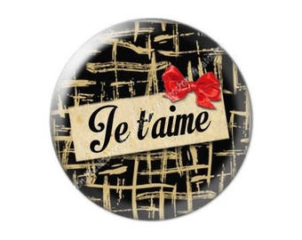 25mm cabochon glass Valentine's day love ICH Liebe Dich 26