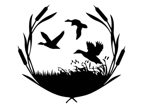 duck nature hunter hunting bird hunt hobby weapon goose rh etsy com duck hunting dog clipart Duck Hunting Outline