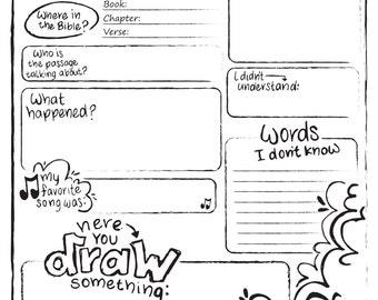 Kids Sermon Notes Printable