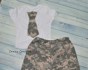 Military Outfit, Baby Army Clothes, navy, ACU, airforce, Seabee, marine (Newborn to 6-12Months)