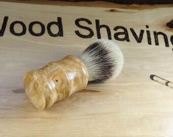 Handmade Maple Burl High Mountain White Badger Shave Brush