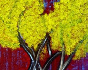 Dos Arboles.  Acrylic on 16x20x3/4 canvas.