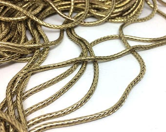2/5 Meters Round Fox Tail Chain Raw Brass 2.0mm Jewelry Findings Foxtail