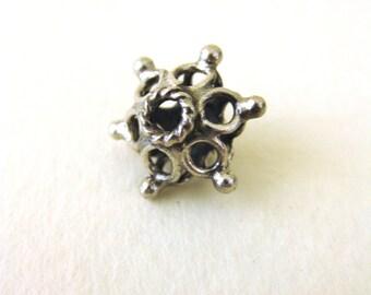 MS SALE 15mm Flower Beads (6) Bali Sterling Silver Fair Trade