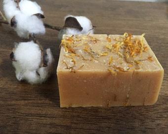 Lemongrass and Calendula Goat Milk Soap