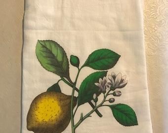 Lemon flour sack towel
