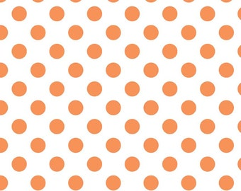 Riley Blake Medium Dot Orange Fabric, 1 yard