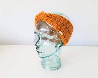 READY TO SHIP - Chunky Earwarmer, Knit Headband, Head Wrap, Winter Accessory, Butterscotch Earwarmer