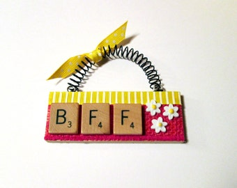 BFF Friend  Scrabble Tile Ornaments