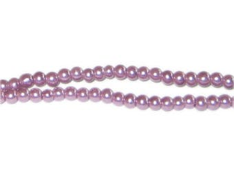 4mm Lavendar Glass Pearl Bead, approx. 113 beads