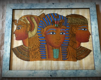 Framed Egyptian art | Wooden Frame